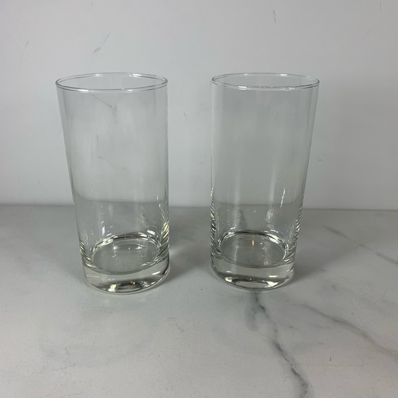 """Thick Bottom Clear Glass Vintage Glass 6"""" x 2.75"""""""